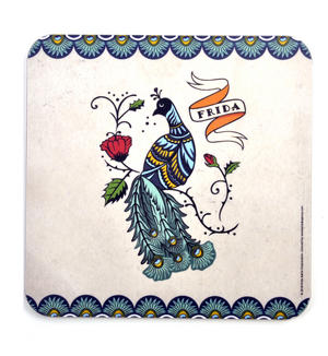 Frida Kahlo Peacock Pot Stand Thumbnail 1