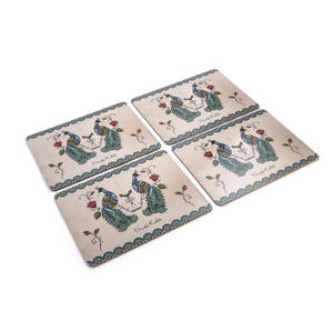 Frida Kahlo Peacock Set of Four Place Mats / Tablemats
