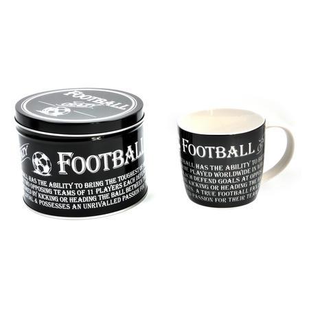 Football Crazy - Enamel Mug and Tin Gift Set