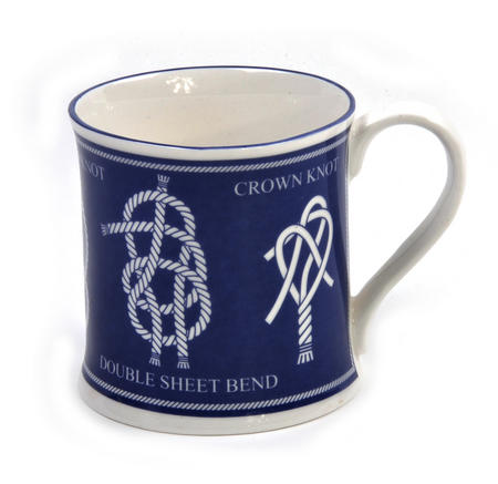 Knots Campfire Porcelain Mug - Blue