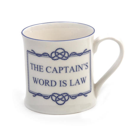 Captain's World is Law Campfire Porcelain Mug - White