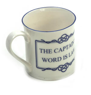 Captain's World is Law Campfire Porcelain Mug - White Thumbnail 2