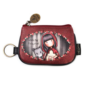 Little Red Riding Hood  - Coin Zip Purse with Keyring By Gorjuss