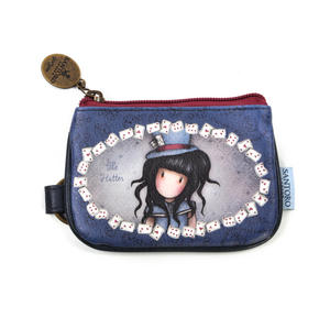Hatter  - Coin Zip Purse with Keyring By Gorjuss