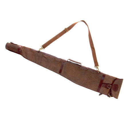 Rifle Slipcase Bag - Heavy Brown Canvas & Leather