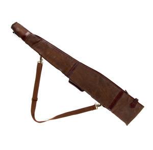 Rifle Slipcase Bag - Heavy Brown Canvas & Leather Thumbnail 2