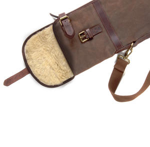 Rifle Slipcase Bag - Heavy Brown Canvas & Leather Thumbnail 5