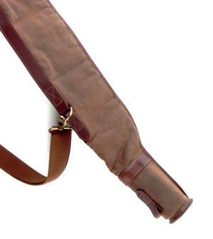 Rifle Slipcase Bag - Heavy Brown Canvas & Leather Thumbnail 6