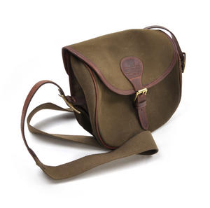 Cartridge Bag - Heavy Green Canvas Shoulder Satchel