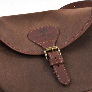 Cartridge Bag - Heavy Brown Canvas Shoulder Satchel Thumbnail 2