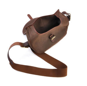 Cartridge Bag - Heavy Brown Canvas Shoulder Satchel Thumbnail 4