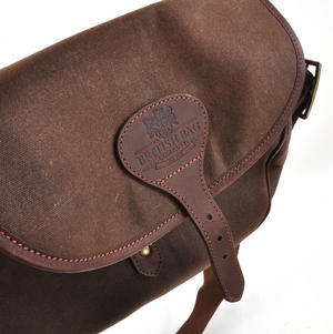 Cartridge Bag - Heavy Brown Canvas Shoulder Satchel Thumbnail 5
