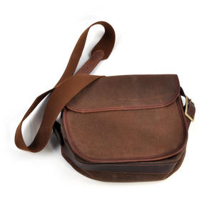 Cartridge Bag - Heavy Brown Canvas Shoulder Satchel Thumbnail 7