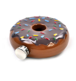 Hip Donut - Chocolate Doughnut 6'oz Hip Flask Thumbnail 4