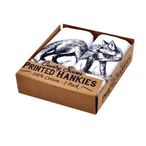 Fox- 2 Pack - Country Scenes Printed Handkerchiefs Thumbnail 1