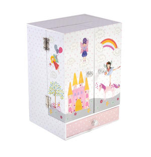 Unicorn Wind-Up Musical Jewellery Storage Box - I Believe in Unicorns, Magic and Fairies. Thumbnail 2