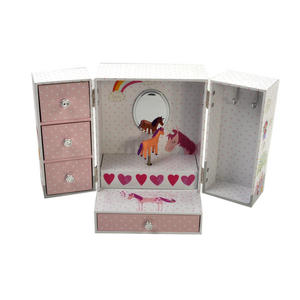 Unicorn Wind-Up Musical Jewellery Storage Box - I Believe in Unicorns, Magic and Fairies. Thumbnail 5