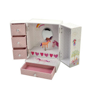 Unicorn Wind-Up Musical Jewellery Storage Box - I Believe in Unicorns, Magic and Fairies. Thumbnail 6
