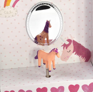 Unicorn Wind-Up Musical Jewellery Storage Box - I Believe in Unicorns, Magic and Fairies. Thumbnail 8