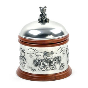 Teddy Bears Picnic - Pewter and Wood Music Box by Royal Selangor