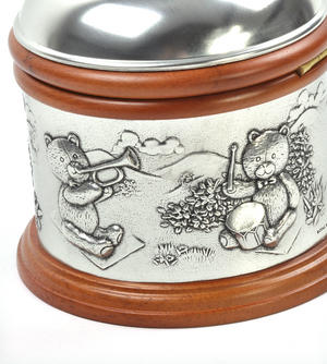 Teddy Bears Picnic - Pewter and Wood Music Box by Royal Selangor Thumbnail 7