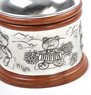 Teddy Bears Picnic - Pewter and Wood Music Box by Royal Selangor Thumbnail 8