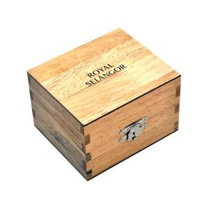 Honey Jar - Pewter Money Box by Royal Selangor in Wooden Gift Box Thumbnail 2