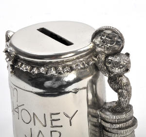 Honey Jar - Pewter Money Box by Royal Selangor in Wooden Gift Box Thumbnail 4