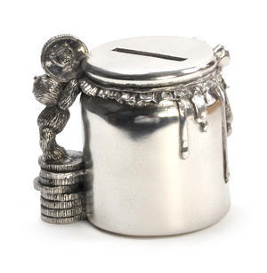 Honey Jar - Pewter Money Box by Royal Selangor in Wooden Gift Box Thumbnail 5
