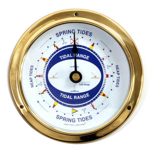 Spring Neap Tide Clock - Neptune's Tide Clock SC 1000 A - L - Polished Brass