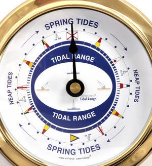Spring Neap Tide Clock - Neptune's Tide Clock SC 1000 A - L - Polished Brass Thumbnail 2