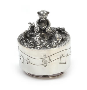 Teddy Bear Music Carousel - Pewter Musical Box in Wooden Gift Box by Royal Selangor Thumbnail 7