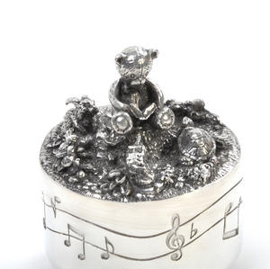 Teddy Bear Music Carousel - Pewter Musical Box in Wooden Gift Box by Royal Selangor Thumbnail 8