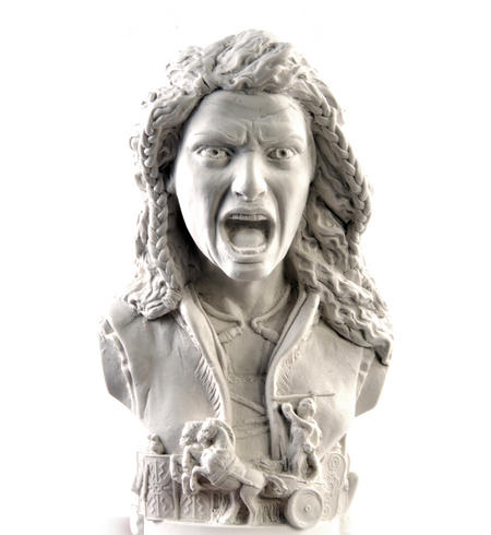Boudica Statuette - Famous Faces Collection Plaster Bust