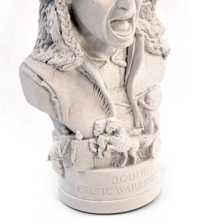 Boudica Statuette - Famous Faces Collection Plaster Bust Thumbnail 5