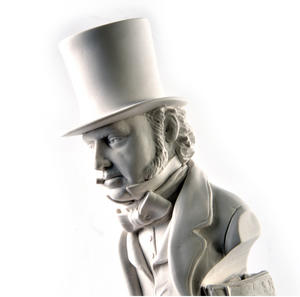 Isambard Kingdom Brunel Statuette - Famous Faces Collection Plaster Bust Thumbnail 1
