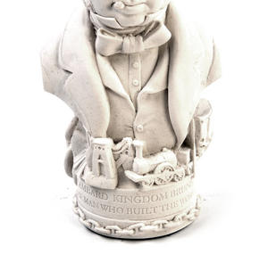 Isambard Kingdom Brunel Statuette - Famous Faces Collection Plaster Bust Thumbnail 3