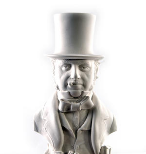 Isambard Kingdom Brunel Statuette - Famous Faces Collection Plaster Bust Thumbnail 6