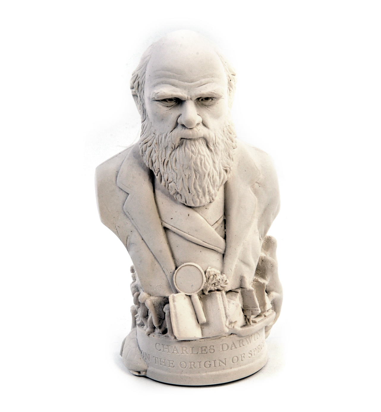 Charles Darwin Statuette Famous Faces Collection Plaster