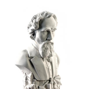 Charles Dickens Statuette - Famous Faces Collection Plaster Bust Thumbnail 1