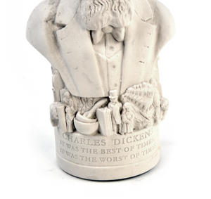 Charles Dickens Statuette - Famous Faces Collection Plaster Bust Thumbnail 4
