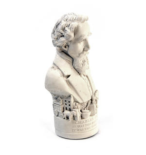 Charles Dickens Statuette - Famous Faces Collection Plaster Bust Thumbnail 5