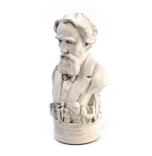 Charles Dickens Statuette - Famous Faces Collection Plaster Bust Thumbnail 6