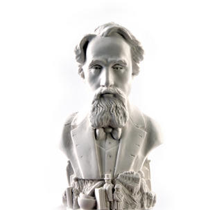 Charles Dickens Statuette - Famous Faces Collection Plaster Bust Thumbnail 7