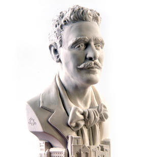 Charles Rennie Mackintosh Statuette - Famous Faces Collection Plaster Bust Thumbnail 1