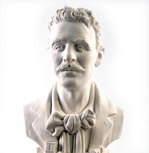 Charles Rennie Mackintosh Statuette - Famous Faces Collection Plaster Bust Thumbnail 2