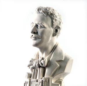 Charles Rennie Mackintosh Statuette - Famous Faces Collection Plaster Bust Thumbnail 3
