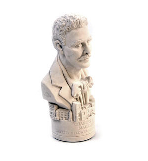 Charles Rennie Mackintosh Statuette - Famous Faces Collection Plaster Bust Thumbnail 4
