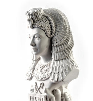 Cleopatra Statuette - Famous Faces Collection Plaster Bust Thumbnail 2