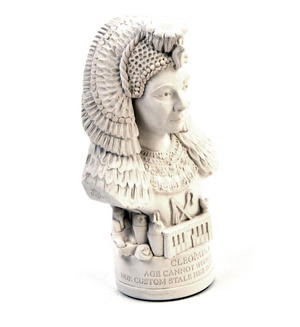 Cleopatra Statuette - Famous Faces Collection Plaster Bust Thumbnail 5